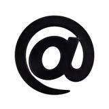 E-mail bij teken royalty-vrije stock afbeelding