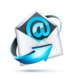 E-mail bij tekenpictogram in brief Royalty-vrije Stock Afbeeldingen