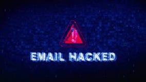 E-mail binnendrong in een beveiligd computersysteem de Krampglitch van het Tekst Digitale Lawaai Vervormingseffect Foutenanimatie vector illustratie