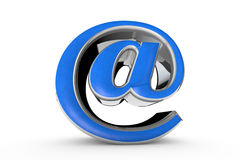 E-mail blue symbol. 3D render illustration. Isolated over white. Stock Photo