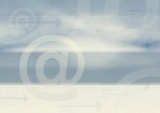 E-mail brengt grafisch over   stock illustratie