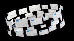 e-mail Briefpost met alfakanaal Levering van correspondentie wereldwijd stock illustratie