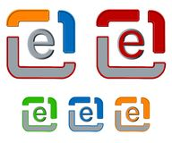 E-mail business icon set Royalty Free Stock Photos