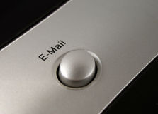 E-mail button. Macro of an email button on keyboard Royalty Free Stock Photo