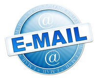 E-mail button blue Stock Photo