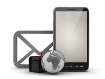 E-mail in cell phone concept illustration Royalty Free Stock Photography