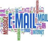 E-mail communicatie woordwolk Stock Foto's