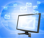 E-mail communication Stock Images