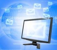 E-mail communication stock images