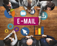 E-Mail Communication Connection Internet Concept Royalty Free Stock Images