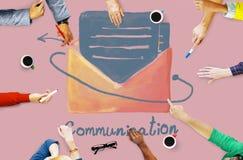 E-mail Communication Connection Online Concept stock image