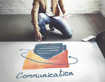 E-mail Communication Connection Online Concept stock images