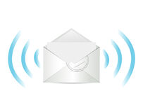 E mail communication illustration design Stock Photos