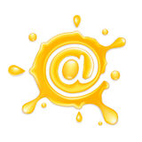 E-Mail Concept. E-Mail icon, a series of drop icons Royalty Free Stock Images