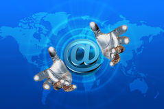 E-mail concept. Internet Concept Background with E-mail Symbol Royalty Free Stock Photography