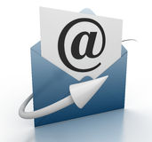 E-mail concept. This is a computer generated and 3d rendered picture Stock Images