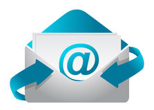 E-mail concept illustration design on a white back Royalty Free Stock Photos