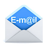 E mail concept over white background Stock Photos