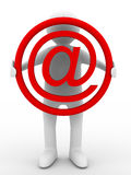E-mail concept on white background Royalty Free Stock Image