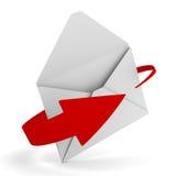 E-mail concept on white background Stock Photos