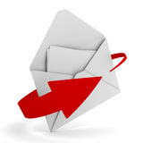 E-mail concept on white background Stock Photography
