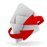E-mail concept on white background Royalty Free Stock Photos