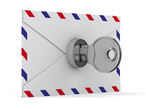 E-mail concept on white background. 3D image Royalty Free Stock Photo