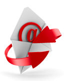 E-mail concept on white background. Isolated 3D. Image Royalty Free Stock Photo