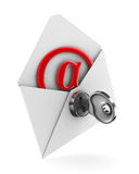 E-mail concept on white background. Isolated 3D Stock Image