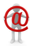 E-mail concept on white background. Isolated 3D Royalty Free Stock Photos