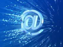 E-mail crash symbol. Conceptual  3d illustration Royalty Free Stock Images