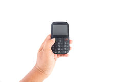 e - mail cyfrowego formatu ręce gospodarstwa komórki wysyłającego Fotografia Royalty Free