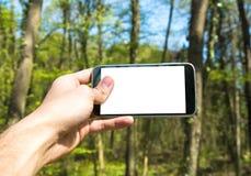 e - mail cyfrowego formatu ręce gospodarstwa komórki wysyłającego Zdjęcie Stock