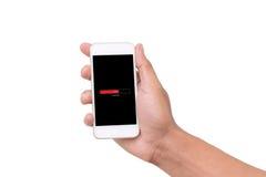e - mail cyfrowego formatu ręce gospodarstwa komórki wysyłającego Obrazy Stock