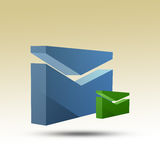 E Mail 3D Icons Royalty Free Stock Photo