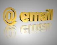E-mail 3d tekst Royalty-vrije Stock Fotografie