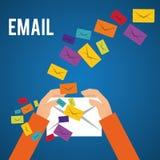E-Mail-Design Lizenzfreie Stockfotos