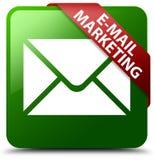 E-Mail, die grünen quadratischen Knopf vermarktet Lizenzfreies Stockfoto