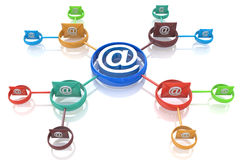 E-mail direct marketing. Communication concept Stock Image