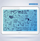 E-mail doodle set. vector illustration Royalty Free Stock Image