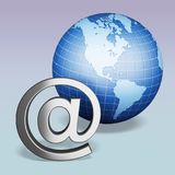 E-mail. Internet symbol computer software technology www earth royalty free illustration