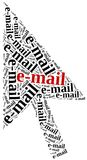 E-Mail or electronic communication concept. Royalty Free Stock Image