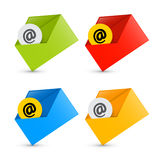 E-mail, Email Icons, Envelope Icons Set Royalty Free Stock Images