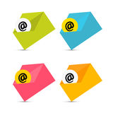 E-mail, Email Icons, Envelope Icons Set Stock Image