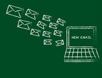 E-Mail empfangen Lizenzfreies Stockbild