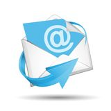 E-mail envelope with blue arrow Stock Photography