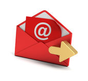 E mail and envelope concept 3d illustration Royalty Free Stock Photos
