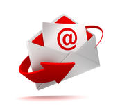 E mail and envelope concept 3d illustration Stock Image