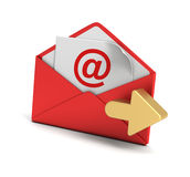 E mail and envelope concept  3d illustration Royalty Free Stock Photo