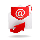 E mail and envelope concept illustration Stock Photos